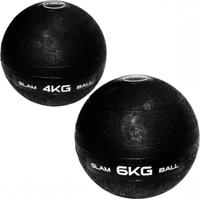 Bola De Peso Slam Ball Cross Fit 4Kg + Bola Slam Ball 6 Kg Liveup - Unissex