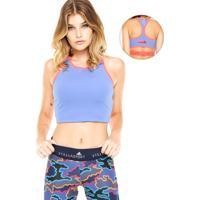 Top Adidas Stellasport Crop Bra Azul/Coral