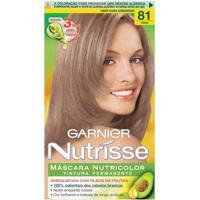 Tintura Garnier Nutrisse 81 Louro Acinzentado Claro - Feminino-Incolor