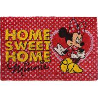 """Capacho Minnie® """"Home Sweet Home""""- Vermelho & Amarelo"""