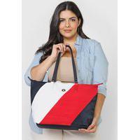 Bolsa Tommy Hilfiger Color Block Vermelho/Branco