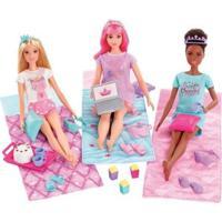 Boneca Barbie Princesa De Aventura - Festa Do Pijama Com Acessórios - Feminino-Colorido