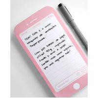 Amaro Feminino Macchiato Bloco De Anotações Paperphone, Rosa