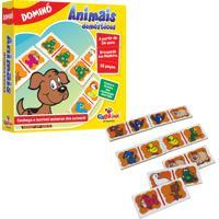 Jogo Educativo Domino Animais Domesticos Ciabrink Colorido