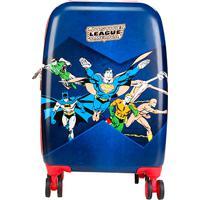 Mala Infantil Luxcel Rodinhas Justice League America - Masculino-Azul