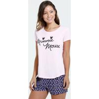 Pijama Feminino Short Doll Estampa Minnie Disney