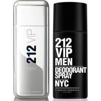 ba41b9b1542 ... Kit Carolina Herrera Perfume Masculino 212 Vip Men Ns Edt 100Ml +  Desodorante 212 Vip Men