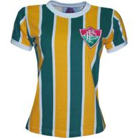 Netshoes  Camisa Liga Retrô Fluminense Brasil Feminino - Edição Limitada -  Feminino a6970e646b426