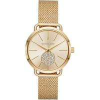Relógio Michael Kors Essential Portia Dourado - Mk3844/1Dn Feminino - Feminino