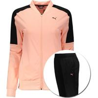 Agasalho Puma Clean Tricot Suit Op Feminino Rosa