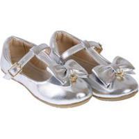 Sapato Infantil Dakar Prata - Baby Passo - 25
