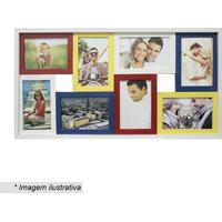 Painel Para 8 Fotos- Branco & Amarelo- 31X61X6Cmkapos