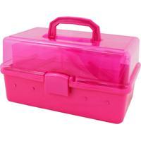 Caixa Organizadora Transparente Jacki Design Organizadores Pink - Kanui