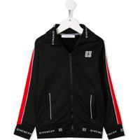 Givenchy Kids Track Jacket - Preto
