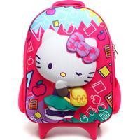 Mochila De Rodinhas Max Toy Hello Kitty Azul/Rosa