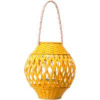 Lanterna Bamboo 30Cm Amarela