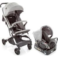 Carrinho De Bebê Travel System Skill Trio Grey Denim Safety 1St