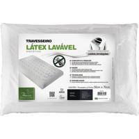 Travesseiro Látex Lavável Sintético