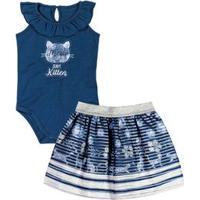Conjunto Marisol Azul Bebê Menina