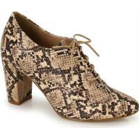 Sapato Oxford Lara Bege Bege