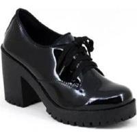 Oxford Tratorado Verniz World Boot Feminino - Feminino-Preto