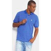 3cf086d75b6 ... Camisa Polo U.S. Polo Assn Piquet Listrada Masculina - Masculino-Azul  Royal