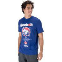 Camiseta Reebok Cl Itl Sushi - Masculina - Azul