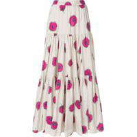 La Doublej Saia Longa Estampada Floral - Rosa