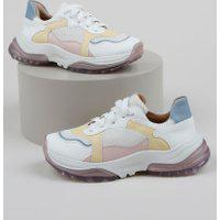 Tênis Feminino Sneaker Chunky Color Multicor