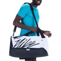 Mala Nike Brasilia Duff - 60 Litros - Branco/Preto