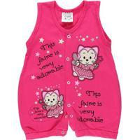 Macacão Infantil Para Menina - Rosa Pink