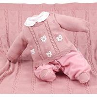 Saída De Maternidade Beth Bebê Tricô Suedine Helena Rose - Tricae