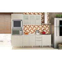 Cozinha Modulada Completa Com 4 Módulos Branco/Nude - Art In Móveis