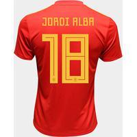 5abf883a9e50d Netshoes; Camisa Seleção Espanha Home 2018 N° 18 Jordi Alba - Torcedor  Adidas Masculina - Masculino