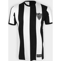 Camisa Retrô Atlético Mineiro 1971 Retrô Mania Masculina - Masculino-Preto+Branco