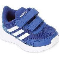 Tênis Infantil Adidas Tensaur Run Velcro Feminino - Unissex-Azul+Branco