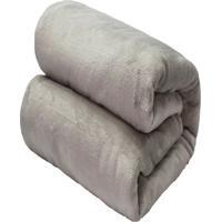 Cobertor Casal Camesa Flannel Loft Cinza - Multicolorido - Dafiti