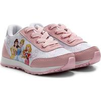 Tênis Jogging Infantil Disney Princesas Feminino - Feminino-Rosa