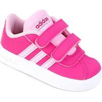 Tênis Infantil Adidas Velcro Vl Court - Unissex-Pink