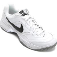 Tenis Nike City Court V Branco Preto Amarelo Masculino - MuccaShop c58f52520525d