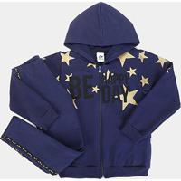 Conjunto Moletom Infantil Andritex Stars Longo - Feminino-Marinho