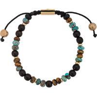 Nialaya Jewelry Pulseira Ajustável De Pedras - Preto