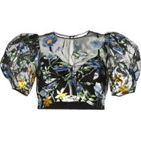 Alice Mccall Blusa Cropped Some Kind Of Beautiful - Preto