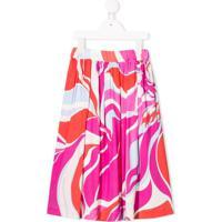 Emilio Pucci Junior Abstract Print Skirt - Rosa