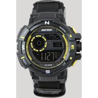 Relógio Digital Mormaii Masculino - Mo3231Ab8Y Preto - Único
