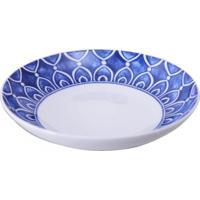 Prato Sopa Azure Lux Porcelana Unidade Branco E Azul Vista Alegre Atlantis