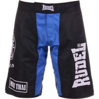 Bermuda Rudel Academy Muay Thai Azul/Preto