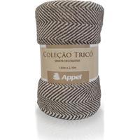 Manta P/ Cama E Sofá 100% Algodão 1,50 X 2,10- Appel - Chevron Marrom