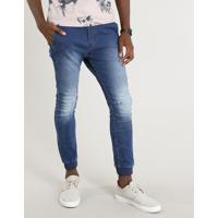 567f55e4e1 CEA  Calça Jeans Masculina Jogger Com Cordão Azul Médio