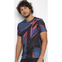 Camiseta Nike Miler Ss Fiesta Masculina - Masculino-Azul Navy